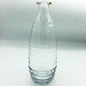 "Ridged Clear Glass 8.5"" H Budvase"
